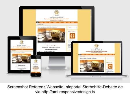 Screenshot Referenz Webseite Infoportal Sterbehilfe-Debatte.de